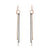 E314t.yg Tri Toned Mixed Metal Stick Earrings in Yellow Gold, Oxidized and Sterling Silver