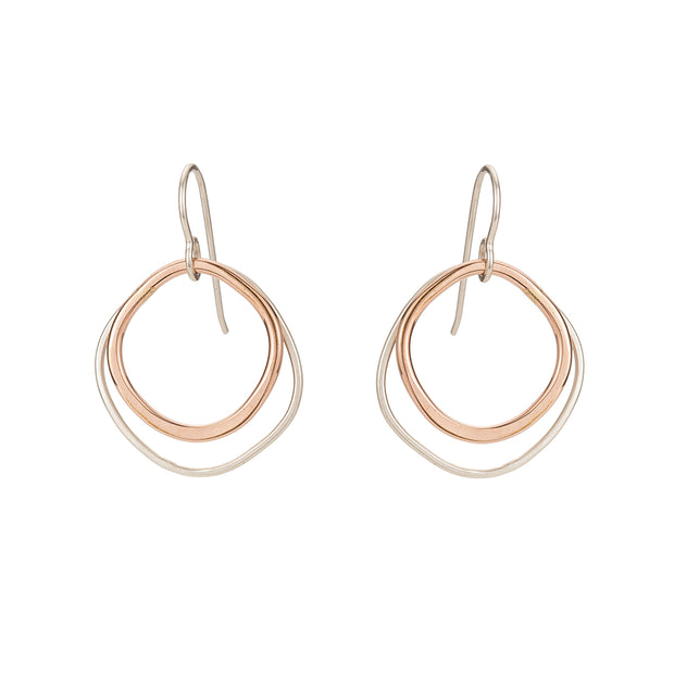 Double Rounded Square Earrings 1
