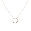 N282x.rg Black and Rose Gold Circle Necklace