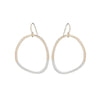 E299g.yg Gold and Silver Two Toned Stone Earrings in Yellow Gold