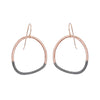 E299x.rg Black and Rose Gold Stone Earrings