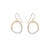E302g.yg Mini Gold and Silver Stone Earrings in Yellow Gold