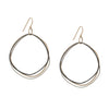 E315t.yg Organic Circle Multi-Loop Tri-Toned Earrings in Yellow Gold, Sterling Silver and Black Oxidized Silver
