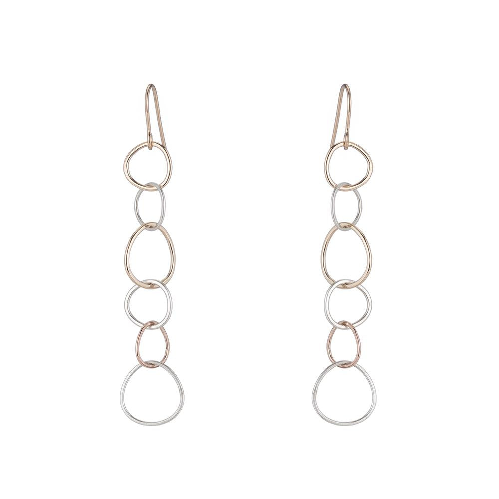 E348 3-Color Narrow Linear Hoop Earring