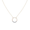 N282x.yg Black and Gold Circle Necklace