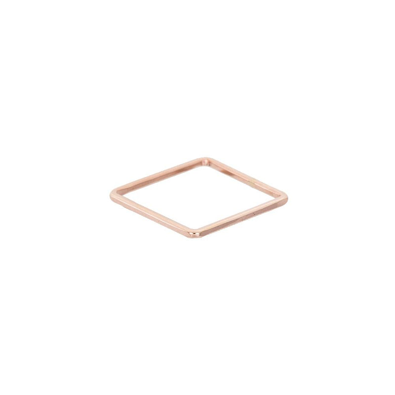 USSQ.yg Upper Side Square Ring in Yellow Gold