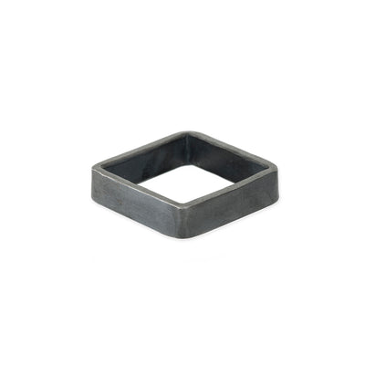 XSQ5 5mm Square Black Oxidized Sterling Silver Densa Ring