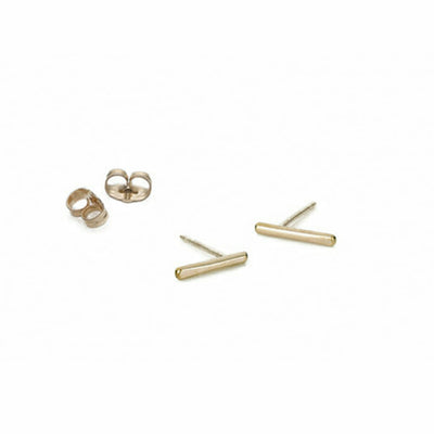E295yg Stria Stud Earrings in Yellow Gold