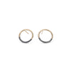E305x.yg Black and Yellow Gold Circle Post Earrings