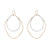 E335g.yg Large Double Angular Hoops in Yellow Gold and Silver