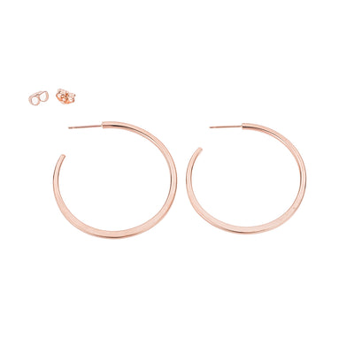 E310rg Classic Hoop Earrings in Rose Gold