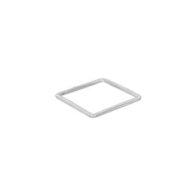 USRS.s Upper Side Square Ring in Sterling Silver