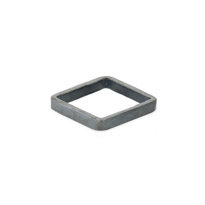 XSQ3 3mm Square Black Oxidized Sterling Silver Densa Ring
