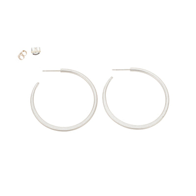 E310s Classic Hoop Earrings in Sterling Silver
