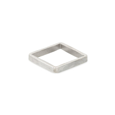 SSQ3 3mm Square Sterling Silver Densa Ring