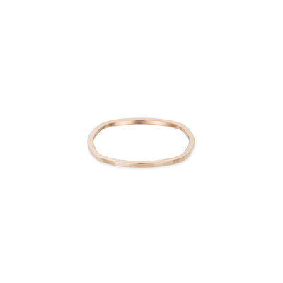 USRS.yg Upper Side Round Ring in Yellow Gold