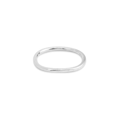 TNGRS.wg-k 1mm Wide Thin 14k White Gold Round Ring