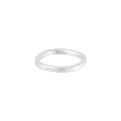 TGRS.wg-k-1.0 2.5mm Wide Gold Round Ring with Diamond in White Gold
