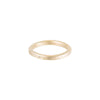 TGRS.yg-k-1.0 2.5mm Wide Gold Round Ring with Diamond in Yellow Gold