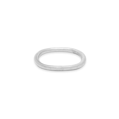 TGRS.wg 2mm Wide Thick White Gold Round Ring