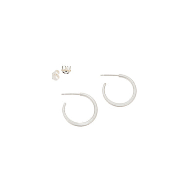 E308s Small Classic Circle Hoop Earrings in Sterling Silver