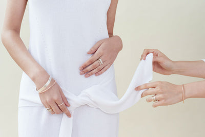 R37.SQ 3 Stack Square Densa Ring, B98s 8mm Silver Square Densa Bangle, B100yg Individual Yellow Gold Bangle