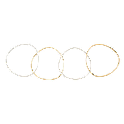 4-Loop Two-Toned Interlocking Bangle Bracelet