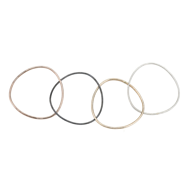 B102.4 4-Loop Four Color Interlocking Bangle Bracelet