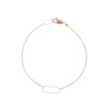 B103g.rg Rectangle & Delicate Chain Bracelet in Sterling Silver and Rose Gold