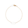 B103g.yg Rectangle & Delicate Chain Bracelet in Sterling Silver and Yellow Gold