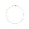 B104g.yg Square & Delicate Chain Bracelet in Yellow Gold and Sterling Silver