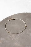B104s.rg Square & Delicate Chain Bracelet in Sterling Silver and Rose Gold