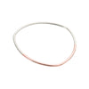 B88s.rg Thick Two-Toned Mixed Metal Triangle Bangle Bracelet in Sterling Silver and Rose Gold