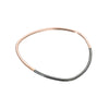B88x.rg Thick Two-Toned Individual Bangle Bracelet in Rose Gold and Black Oxidized Sterling Silver