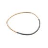 B88x.yg Thick Two-Toned Individual Bangle Bracelet in Yellow Gold and Black Oxidized Sterling Silver
