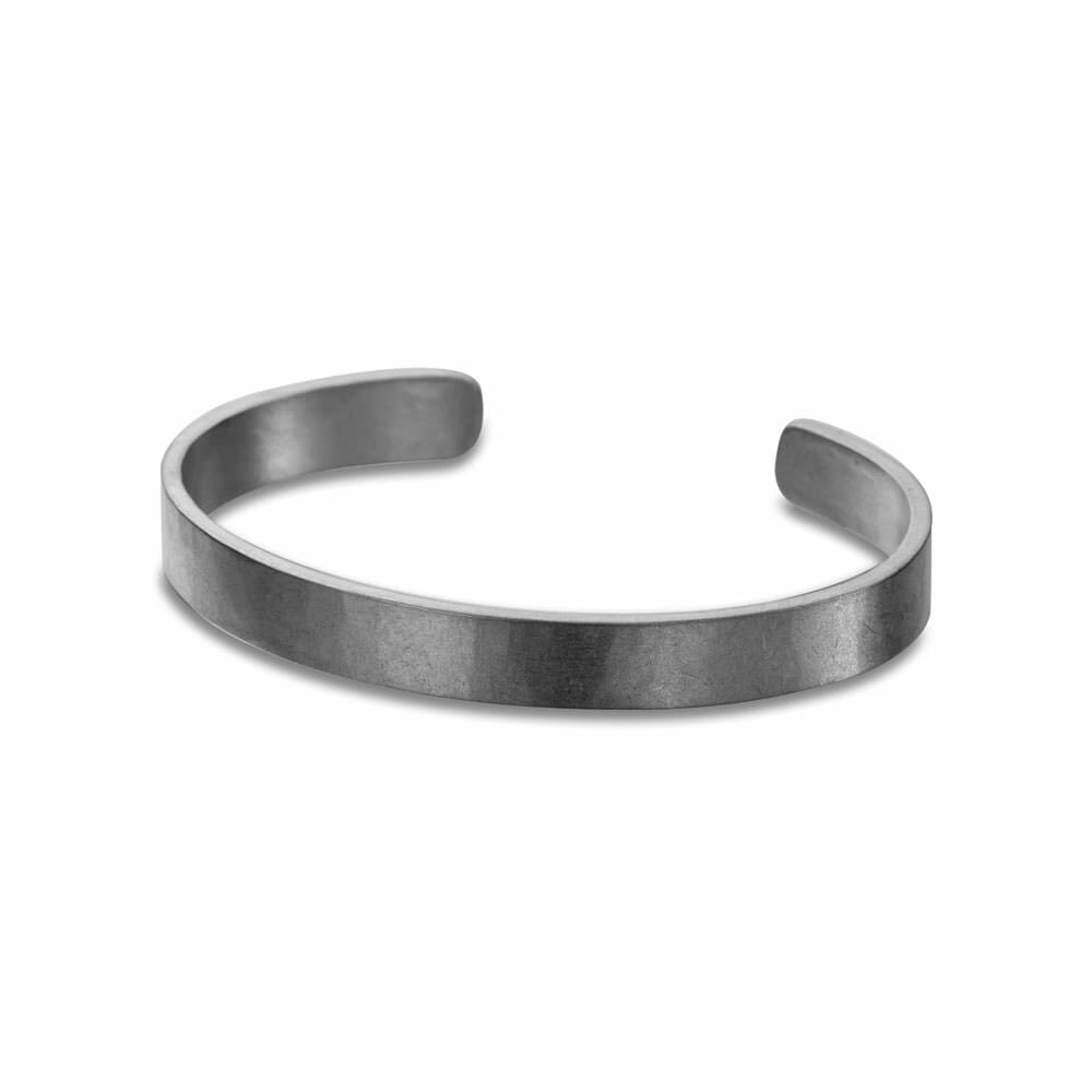 B91x 8mm Wide Densa Cuff Bracelet in Black Oxidized Sterling Silver