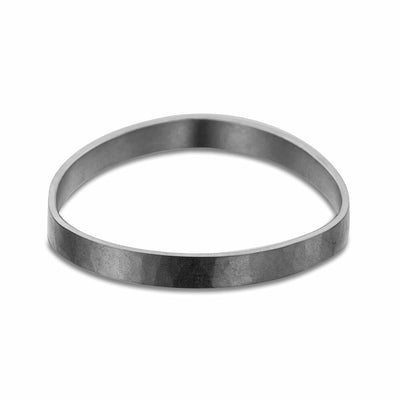 B92x 8mm Wide Densa Bangle Bracelet in Black Oxidized Sterling Silver