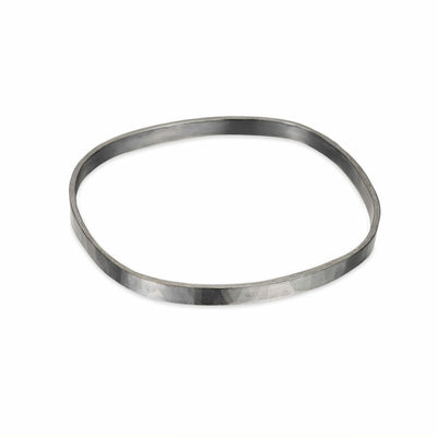 B97x 5mm Wide Square Densa Bangle in Black Oxidized Silver