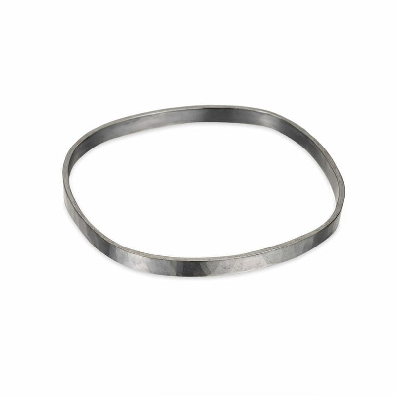 B97s 5mm Wide Square Densa Bangle in Sterling Silver