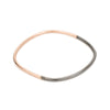 B99x.rg Thick Black & Rose Gold Square Bangle Bracelet