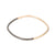B99x.yg Thick Black & Yellow Gold Square Bangle Bracelet