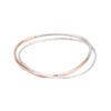 B101.2s.rg 2-Loop Two-Toned and Monotone Interlocking Bangle in Silver and Rose Gold