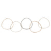 B80.5t.rg 5-Loop Mixed Metal Interlocking Bangle Bracelet in Rose Gold, Sterling and Oxidized Silver