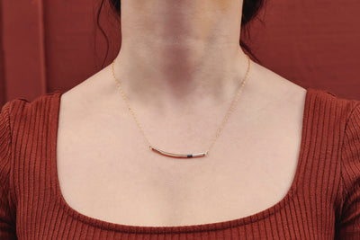 Mini Tri-Toned Arc Necklace