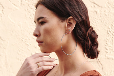 Extra Large Classic Circle Hoop Earrings (NEW!)