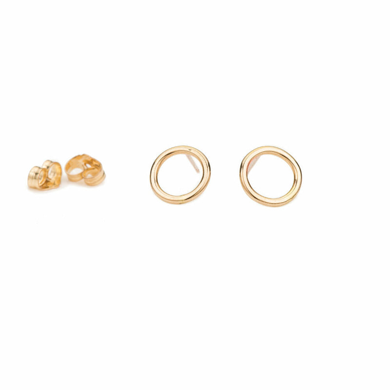 E293s Small Circle Studs in Sterling Silver