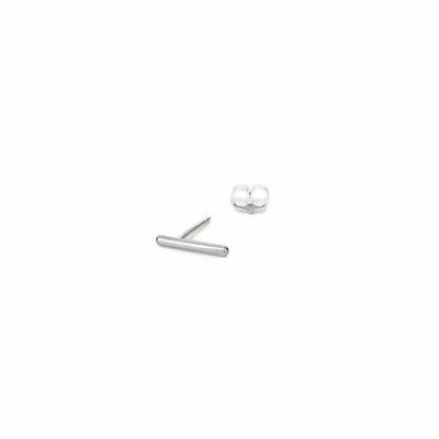 E295s-Single Stria Stud Earring in Sterling Silver
