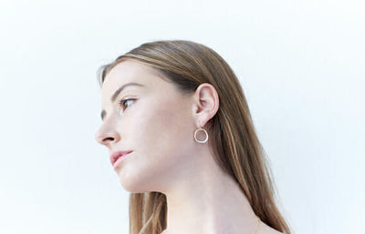 mini stone earrings - Colleen Mauer Designs