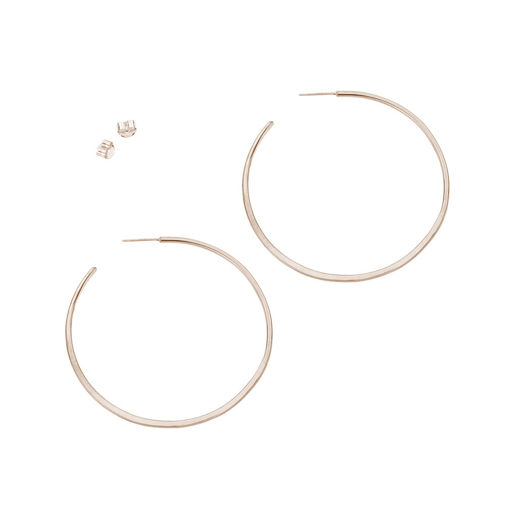 E322yg Large Classic Circle Hoops in Yellow Gold