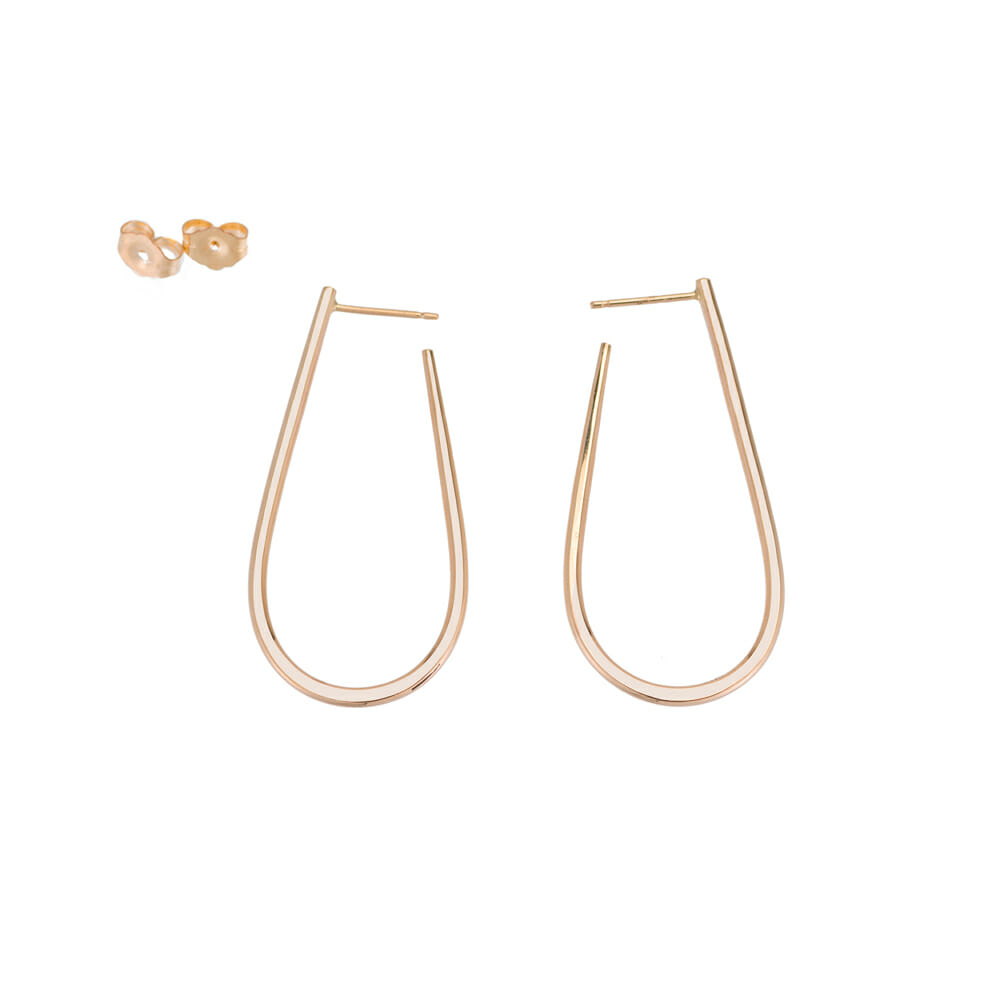 E338yg U Post Earrings in Yellow Gold
